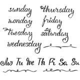 Νέα εγγραφή έτους για το ημερολόγιο, τον αρμόδιο για το σχεδιασμό ή το διοργανωτή - όλες οι ημέρες εβδομάδας και οι σύντομες μορφ διανυσματική απεικόνιση