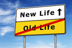 Νέα εικόνα έννοιας οδικών σημαδιών ζωής Στοκ Εικόνα