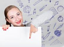 Νέα εκμετάλλευση γυναικών whiteboard με το γράψιμο της λέξης: άσπρη μορφή Τεχνολογία, Διαδίκτυο, επιχείρηση και μάρκετινγκ Στοκ φωτογραφίες με δικαίωμα ελεύθερης χρήσης
