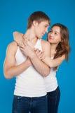 Νέα εκμετάλλευση ζευγών αγάπης μεταξύ τους στο στούντιο Στοκ Φωτογραφία