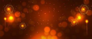 Νέα εμβλήματα έτους με τα πυροτεχνήματα ελεύθερη απεικόνιση δικαιώματος
