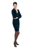Νέα επιχειρηματίας με μια πέννα Στοκ φωτογραφία με δικαίωμα ελεύθερης χρήσης