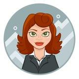 Νέα επιχειρηματίας με το διάγραμμα Στοκ Εικόνες
