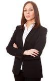 Νέα επιχειρηματίας στο άσπρο υπόβαθρο Στοκ εικόνα με δικαίωμα ελεύθερης χρήσης