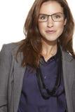 Νέα επιχειρησιακή γυναίκα που φορά τα γυαλιά Στοκ φωτογραφίες με δικαίωμα ελεύθερης χρήσης