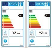 Νέα ετικέτα γραφικών παραστάσεων ενεργειακής εκτίμησης Στοκ φωτογραφίες με δικαίωμα ελεύθερης χρήσης