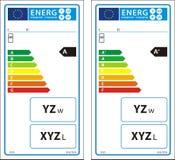 Νέα ετικέτα γραφικών παραστάσεων ενεργειακής εκτίμησης Στοκ εικόνες με δικαίωμα ελεύθερης χρήσης