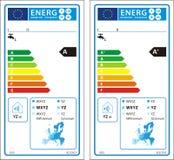 Νέα ετικέτα γραφικών παραστάσεων ενεργειακής εκτίμησης Στοκ φωτογραφία με δικαίωμα ελεύθερης χρήσης