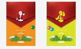Νέα ευχετήρια κάρτα έτους και Χριστουγέννων με Άγιο Βασίλη Στοκ εικόνες με δικαίωμα ελεύθερης χρήσης