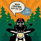 Νέα ευχετήρια κάρτα έτους ποδηλατών Στοκ φωτογραφίες με δικαίωμα ελεύθερης χρήσης
