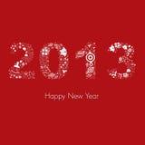 Νέα ευχετήρια κάρτα έτους του 2013 Στοκ Εικόνα