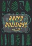 Νέα ευχετήρια κάρτα έτους Χριστουγέννων Στοκ εικόνες με δικαίωμα ελεύθερης χρήσης