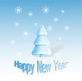 Νέα ευχετήρια κάρτα έτους ελεύθερη απεικόνιση δικαιώματος
