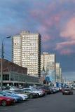 Νέα λεωφόρος Arbat το βράδυ Μόσχα Ρωσία Στοκ φωτογραφία με δικαίωμα ελεύθερης χρήσης