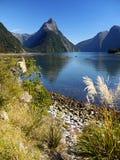 Νέα Ζηλανδία, ήχος Milford Στοκ εικόνες με δικαίωμα ελεύθερης χρήσης
