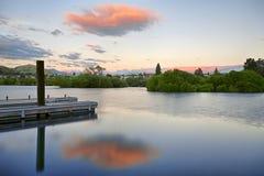 Νέα Ζηλανδία & σύννεφα στοκ εικόνα