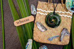 Νέα Ζηλανδία - Maori τα αντικείμενα - κρεμαστό κόσμημα νεφριτών νεφριτών επάνω Στοκ Εικόνα