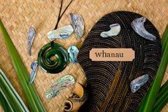 Νέα Ζηλανδία - Maori τα αντικείμενα - μόνα και κρεμαστό κόσμημα νεφριτών Στοκ εικόνα με δικαίωμα ελεύθερης χρήσης