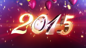 Νέα ζωτικότητα αντίστροφης μέτρησης έτους 2015 διανυσματική απεικόνιση