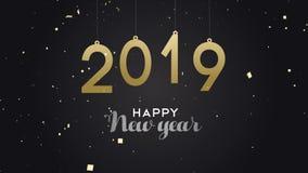 Νέα ζωτικότητα καρτών κομφετί κομμάτων έτους 2019 απεικόνιση αποθεμάτων