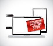 νέα ηλεκτρονική που έρχεται σύντομα ελεύθερη απεικόνιση δικαιώματος