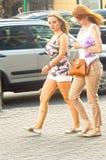 Νέα θερμότητα Αύγουστος θερινής ημέρας Arbat Μόσχα Στοκ Εικόνα