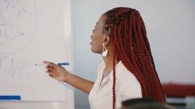 Νέα θετική βέβαια γυναίκα κύριοι παρακινώντας υπάλληλοι αφροαμερικάν απόθεμα βίντεο