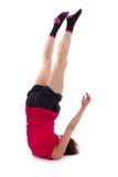 Νέα θηλυκή να κάνει άσκηση Στοκ εικόνα με δικαίωμα ελεύθερης χρήσης