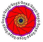 Νέα διακόσμηση έτους συμβόλων σε ένα άσπρο υπόβαθρο Στοκ Εικόνα