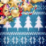 Νέα διακόσμηση Χριστουγέννων έτους 10 eps Στοκ φωτογραφία με δικαίωμα ελεύθερης χρήσης