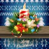 Νέα διακόσμηση Χριστουγέννων έτους 10 eps Στοκ Εικόνες