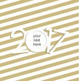 Νέα διανυσματική κάρτα έτους 2017 Στοκ εικόνα με δικαίωμα ελεύθερης χρήσης