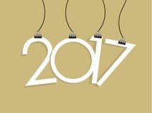 Νέα διανυσματική κάρτα έτους 2017 Στοκ Εικόνα