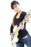 Νέα ιαπωνική γυναίκα με 5 πέρκες σειρών Στοκ φωτογραφίες με δικαίωμα ελεύθερης χρήσης