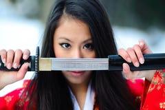 Νέα ιαπωνική γυναίκα Στοκ Εικόνες
