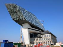 Νέα λιμενικά γραφεία στο λιμένα της Αμβέρσας στο Βέλγιο Στοκ Εικόνες