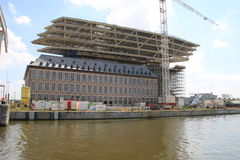 Νέα λιμενικό γραφείο/Havenhuis Αμβέρσα Στοκ Εικόνα