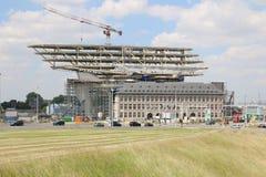 Νέα λιμενικό γραφείο/Havenhuis Αμβέρσα Στοκ φωτογραφία με δικαίωμα ελεύθερης χρήσης