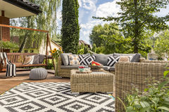 Νέα ιδέα patio βιλών στοκ φωτογραφία