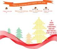 Νέα κάρτα έτους με για το έτος 2016 Διανυσματική απεικόνιση