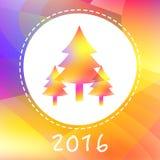 Νέα κάρτα έτους με τα νέα δέντρα έτους Στοκ φωτογραφία με δικαίωμα ελεύθερης χρήσης