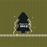 Νέα κάρτα έτους χριστουγεννιάτικων δέντρων Στοκ φωτογραφία με δικαίωμα ελεύθερης χρήσης