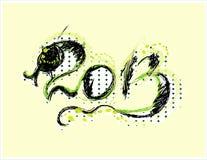 Νέα κάρτα έτους 2013 με το φίδι Στοκ Εικόνες