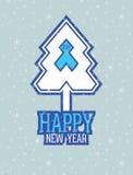 Νέα κάρτα έτους Στοκ Εικόνες
