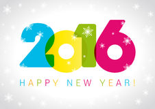 2016 νέα κάρτα έτους Στοκ εικόνα με δικαίωμα ελεύθερης χρήσης