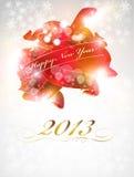 Νέα κάρτα εορτασμού έτους Στοκ Εικόνες