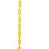 Νέα κίτρινη πλαστική αλυσίδα beeing έννοιας λευκό τεχνολογίας συνδέσμων απομονωμένο εστίαση καλυμμένο στούντιο Στοκ Εικόνες