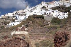 Νέα και αρχαία αρχιτεκτονική Santorini Στοκ Φωτογραφίες