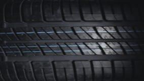 Νέα και αχρησιμοποίητη περιστροφή ροδών αυτοκινήτων απόθεμα βίντεο