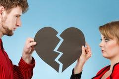 Νέα καρδιά καθορισμού ζευγαριού στοκ εικόνες